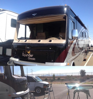 One Piece Motor Home Windshields Replacement